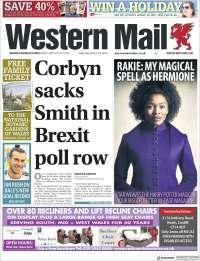 Portada de Western Mail (Royaume-Uni)