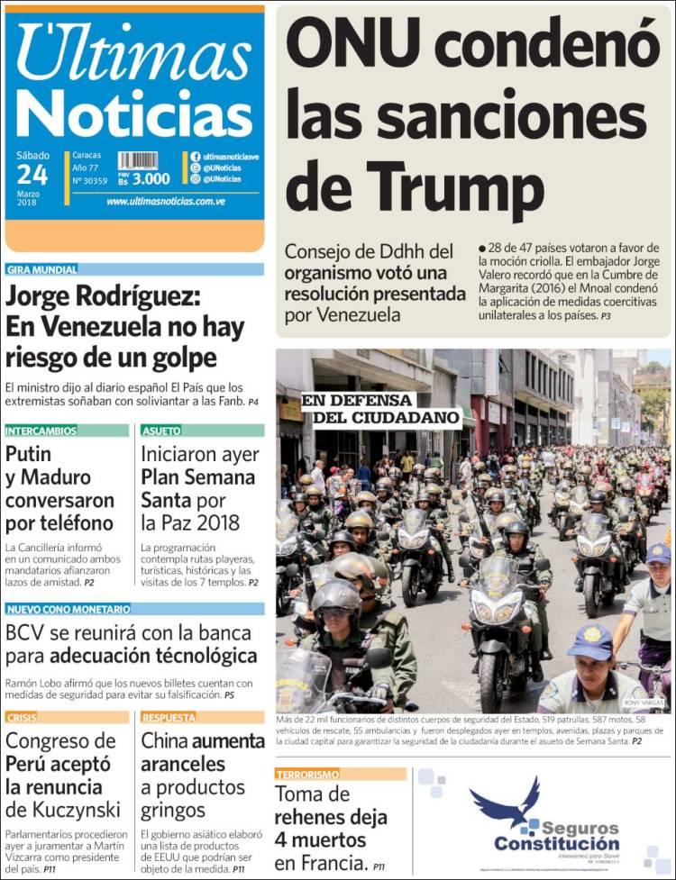 peri dico ltimas noticias venezuela peri dicos de On ultimas noticias de espectaculos nacionales