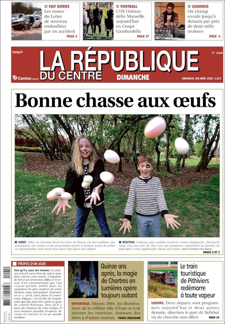Periodico La Republique Du Centre Francia Periodicos De Francia