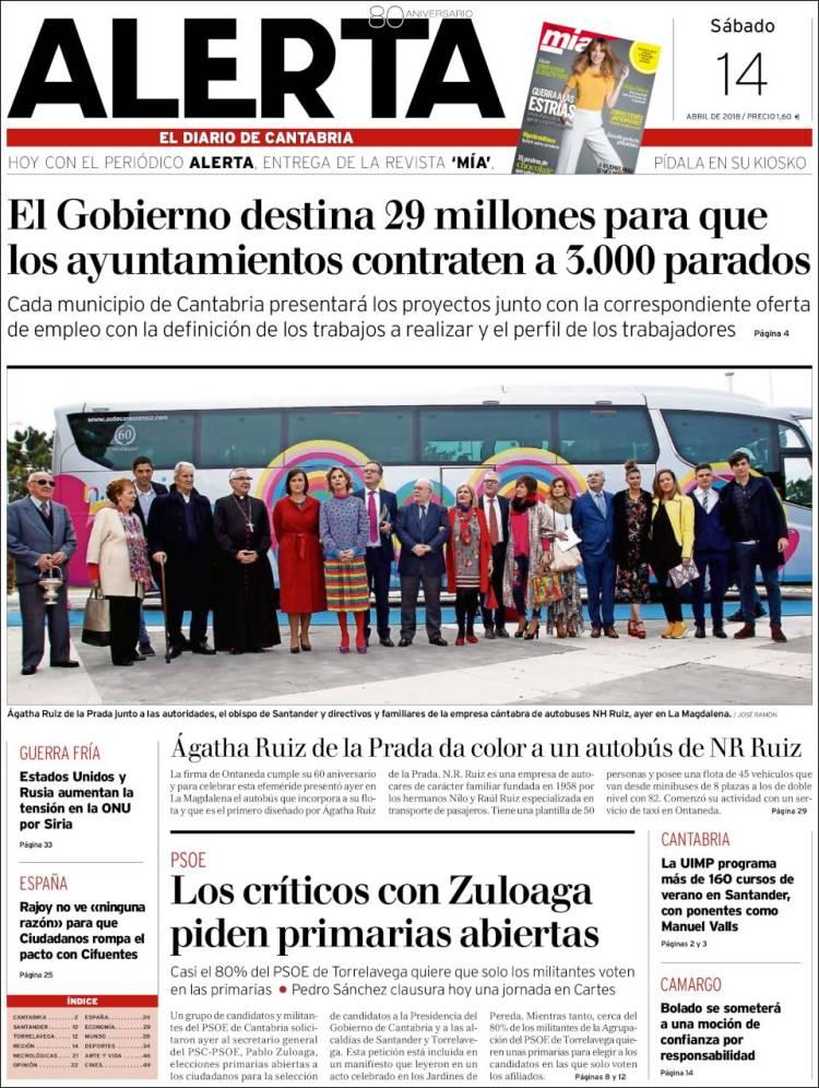 Periódico Alerta - El Diario de Cantabria (España). Periódicos de ...