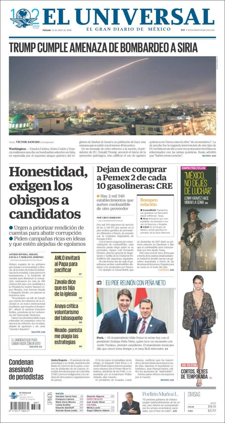 e796400fdb Periódico El Universal (México). Periódicos de México. Edición de ...