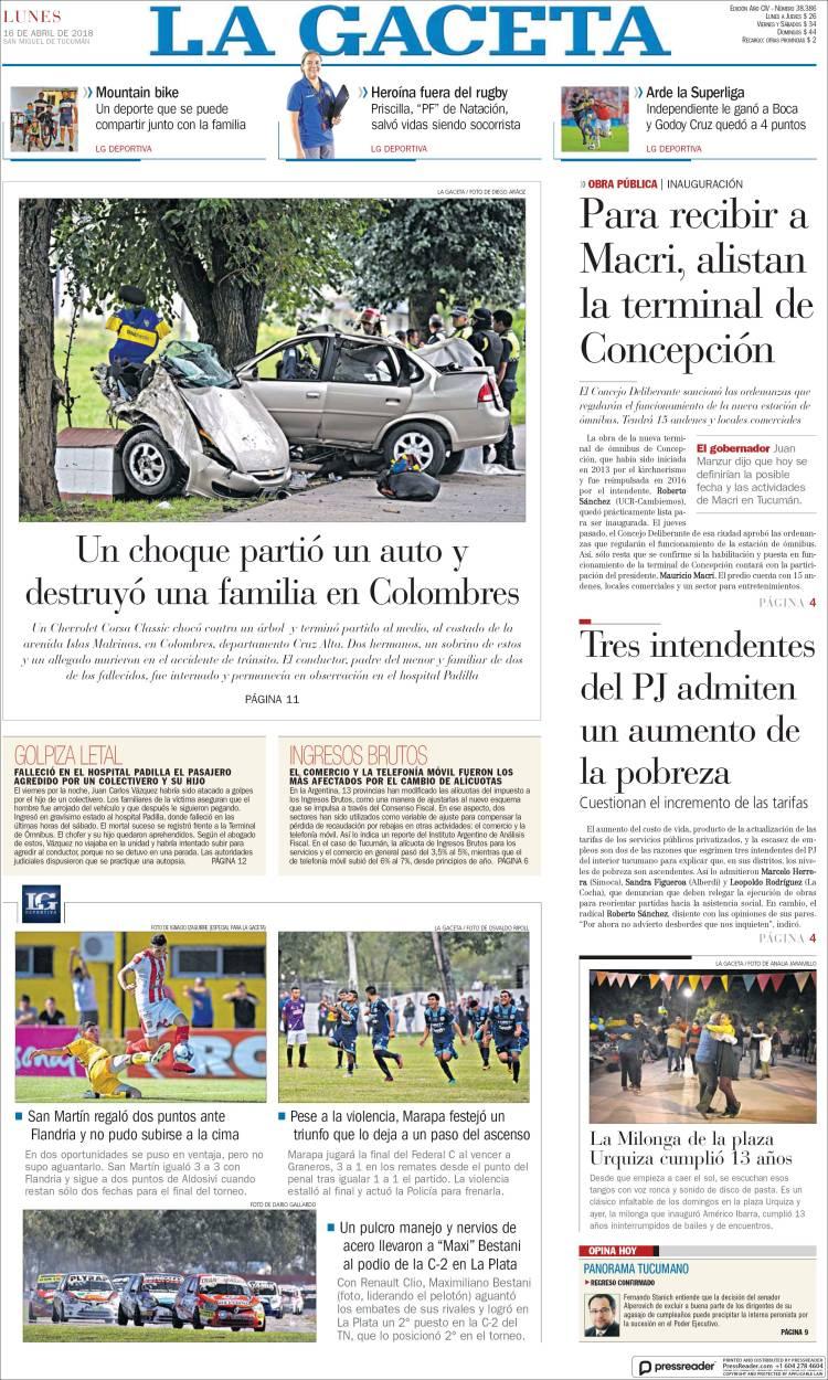 Argentina noticias de argentina hoy lunes 16 de abril de for Noticias farandula argentina hoy