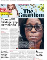 Portada de The Guardian (Reino Unido)
