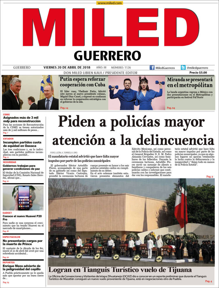 Portada de Miled - Guerrero (México)