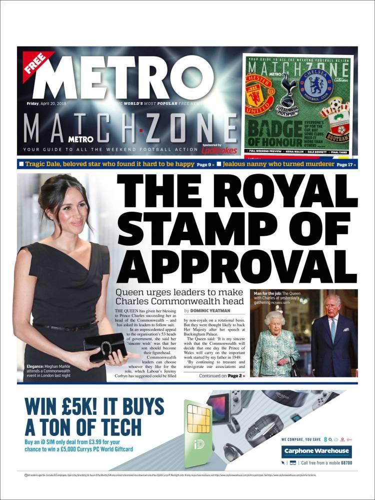 The metro newspaper london