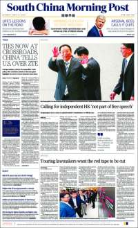 Portada de South China Morning Post (Chine)