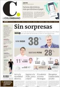 Portada de El Colombiano (Colombie)