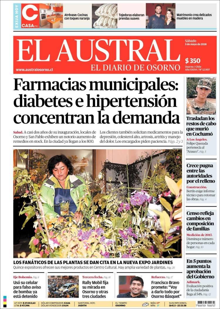Periódico El Austral de Osorno (Chile). Periódicos de Chile. Edición ...