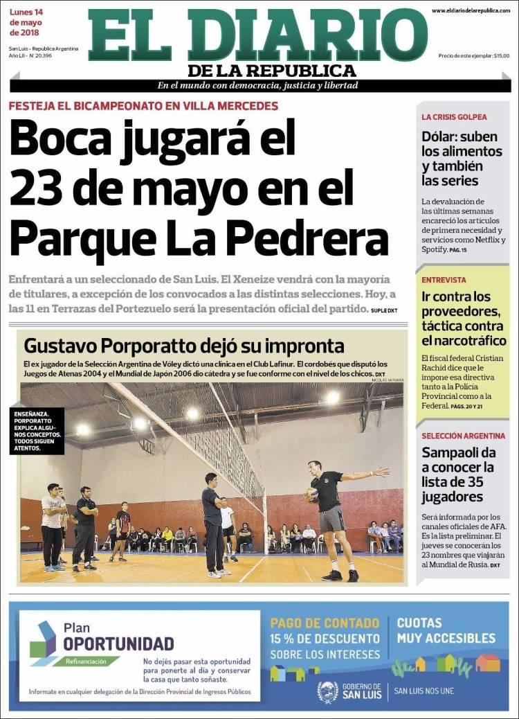 Periódico Diario De La República Argentina Periódicos De