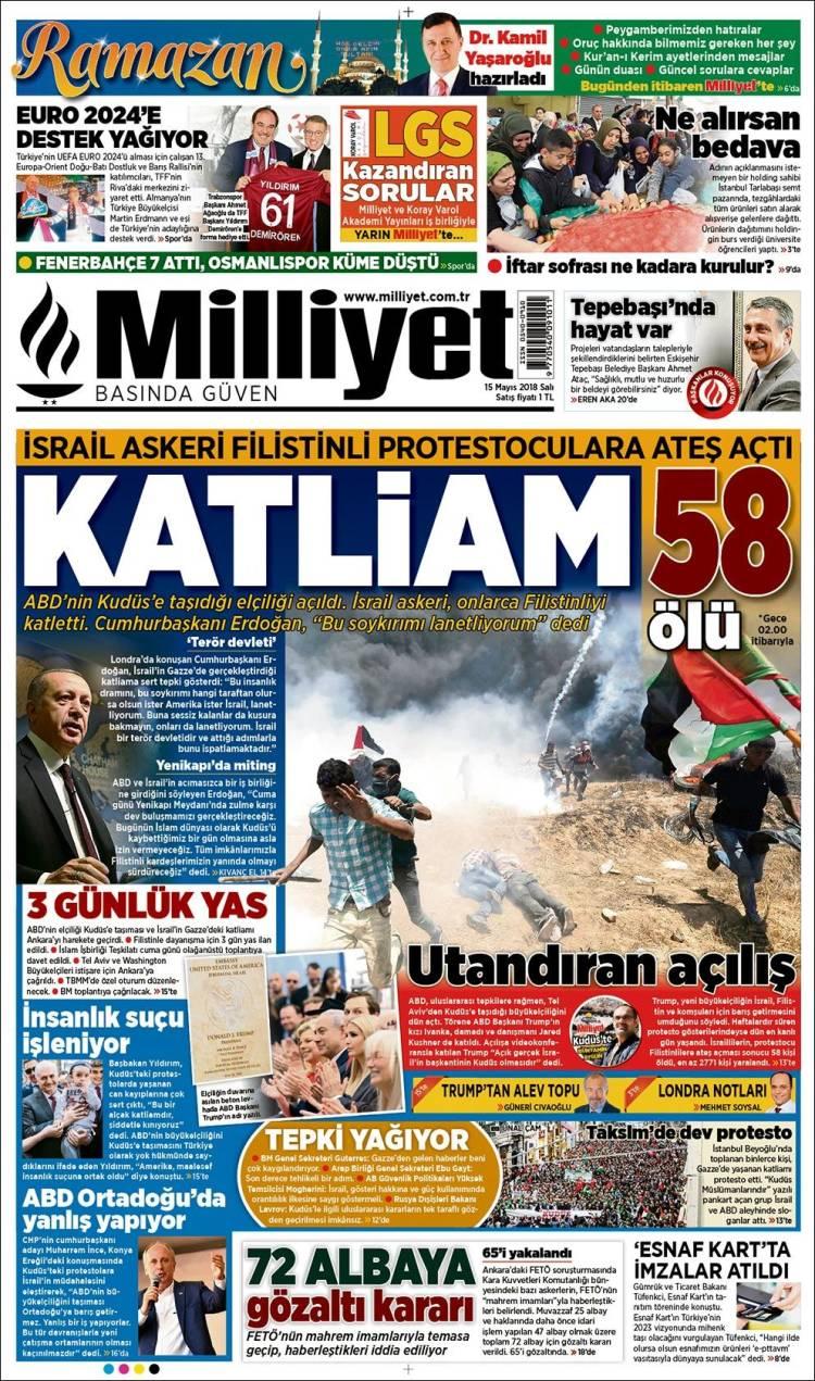 Newspaper Milliyet Turkey Newspapers In Tuesdays Edition