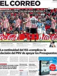 Portada de El Correo (España)