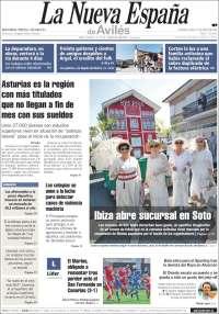 Portada de La Nueva España - Avilés (España)