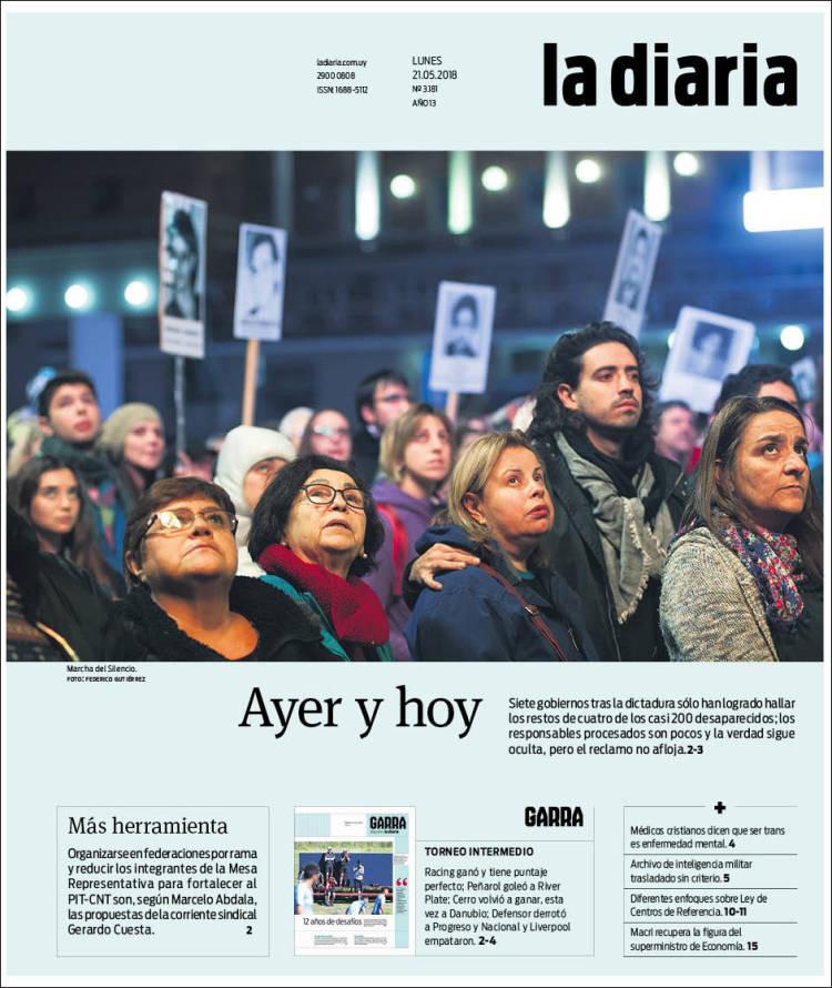 Portada De La Diaria Uruguay
