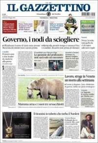 Portada de Il Gazzettino (Italia)