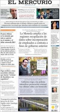 Portada de El Mercurio (Chili)