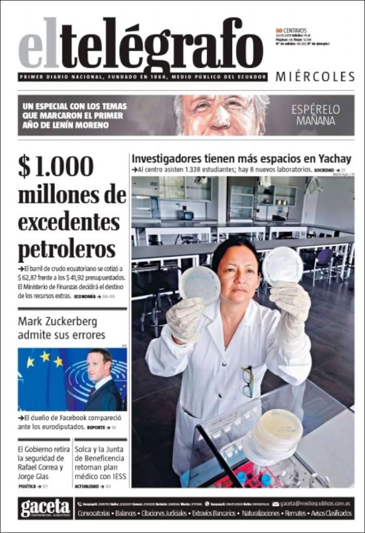 Newspaper El Telegrafo Ecuador Newspapers In Ecuador