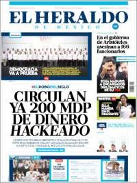 Portada de El Heraldo de México (Mexico)