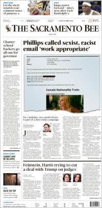 Portada de The Sacramento Bee (États-Unis)