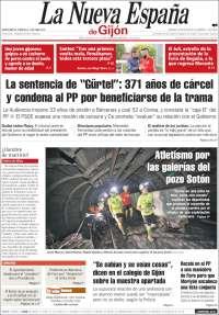 Portada de La Nueva España - Gijón (Spain)