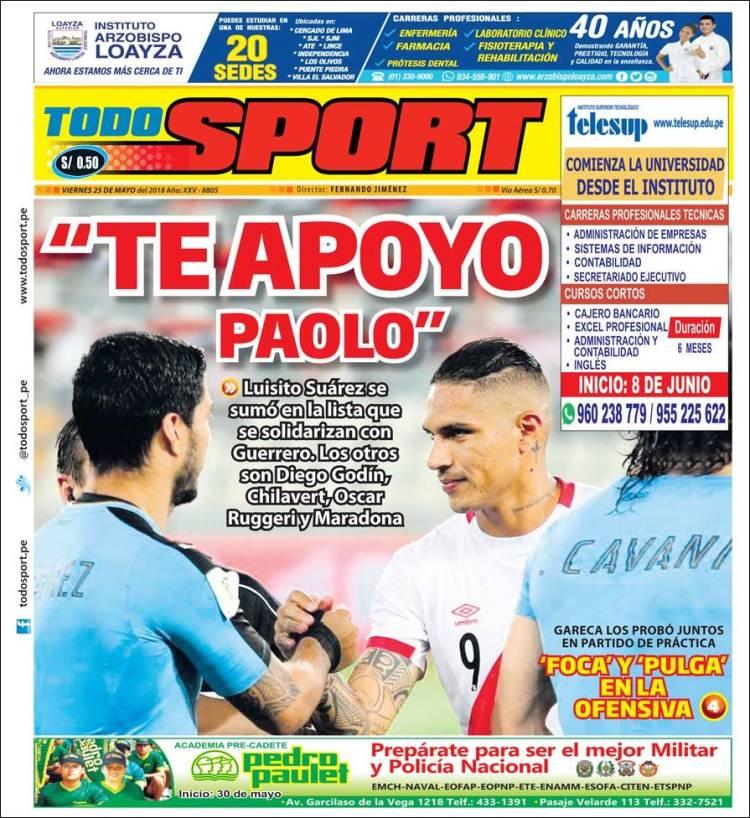 Portada de TodoSport (Pérou)