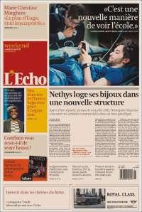 Portada de L'Echo (Belgium)