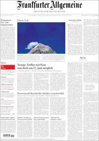 Portada de Frankfurter Allgemeine (Allemagne)