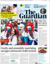 Portada de The Guardian (United Kingdom)