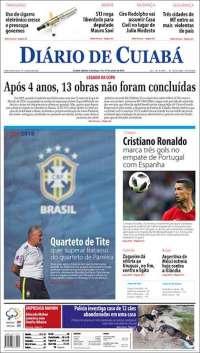 Portada de Diário de Cuiabá (Brasil)