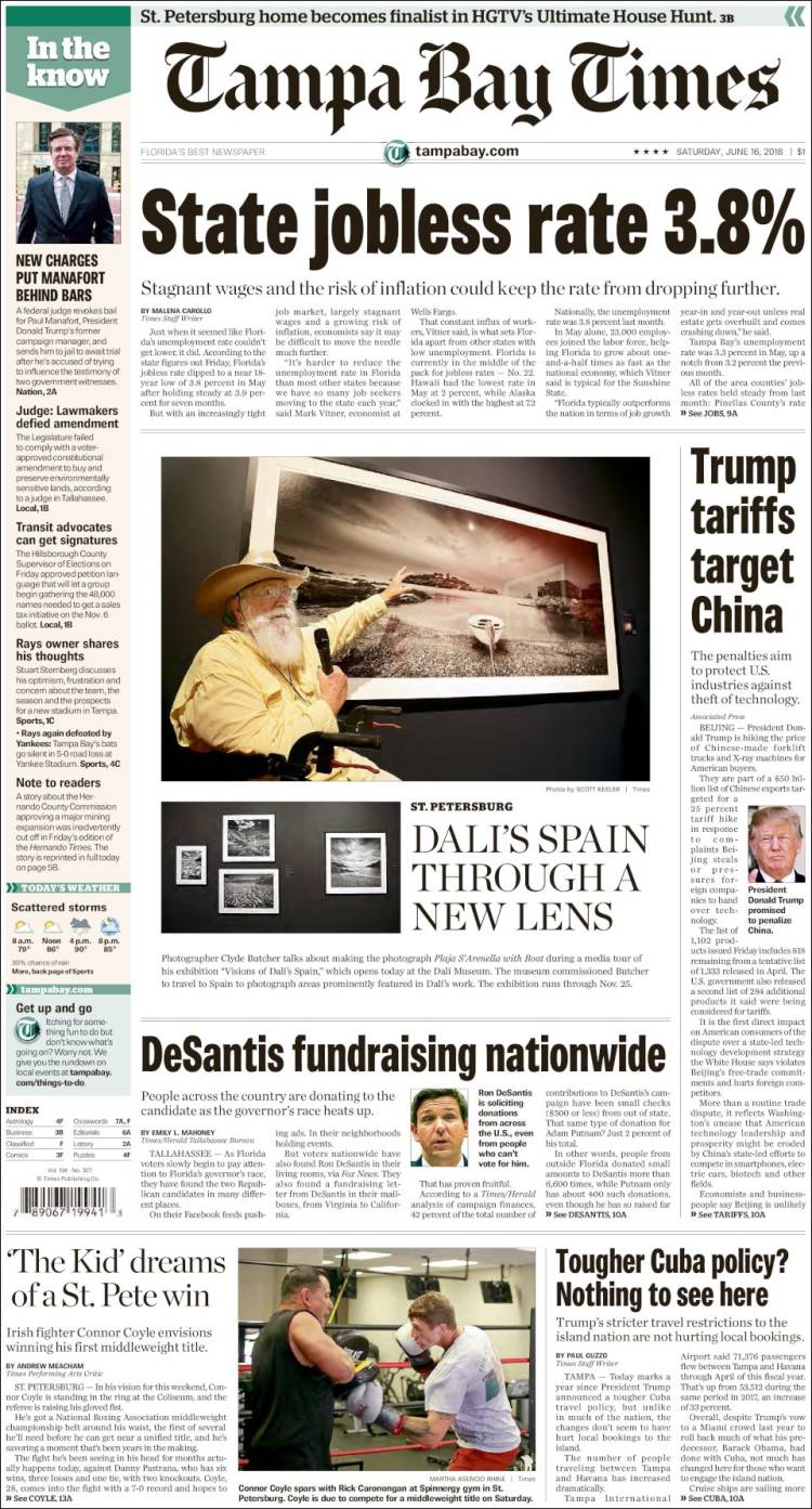 Newspaper Tampa Bay Times (USA)  Newspapers in USA