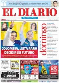Portada de Diario de Otún (Colombie)