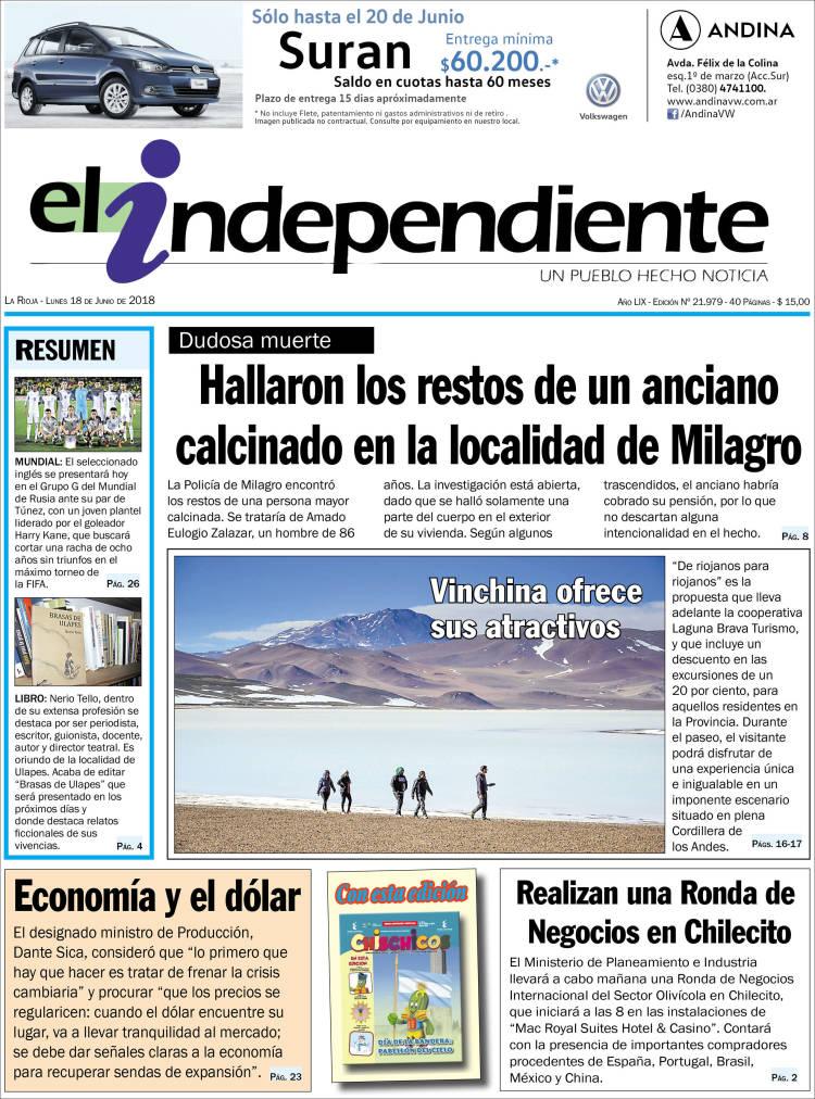 Portada de El Independiente (Argentina)