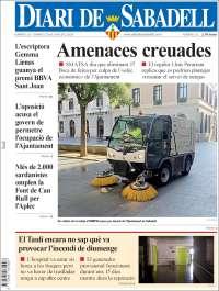 Portada de Diari de Sabadell (España)