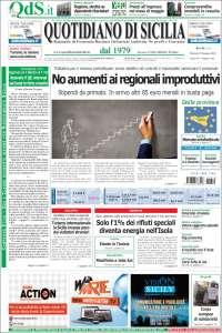 Portada de Quotidiano di Sicilia (Italy)