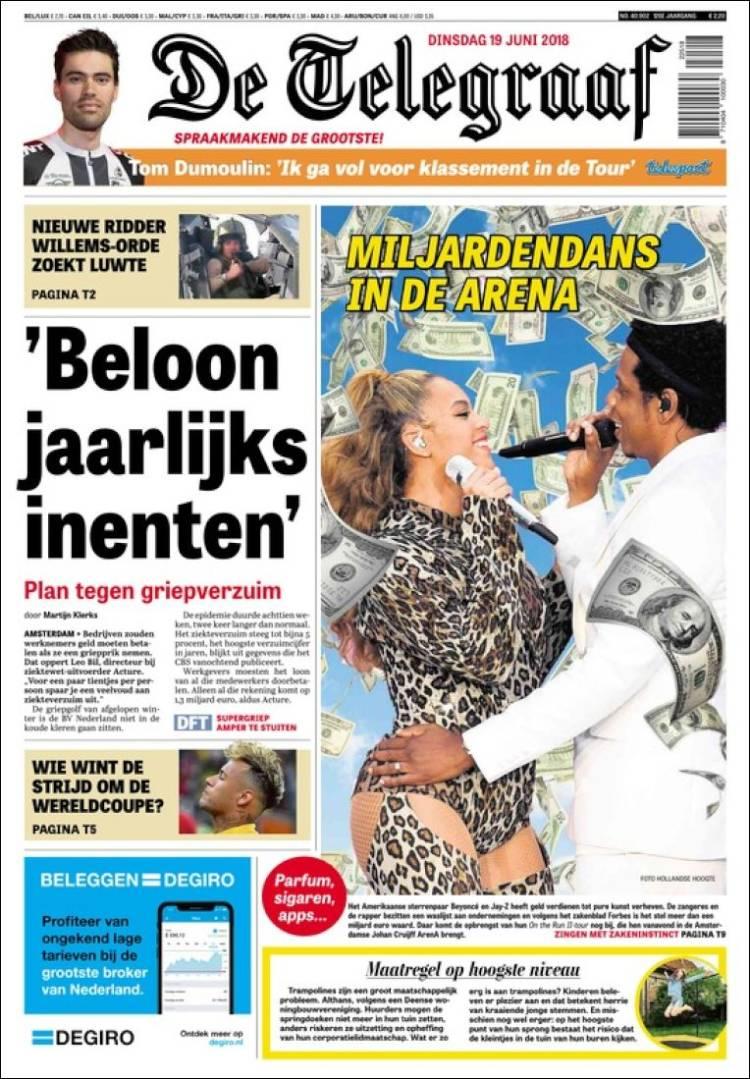 Portada de De Telegraaf (Países Bajos)