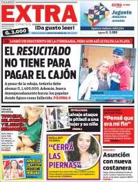 Portada de Diario Extra (Paraguay)