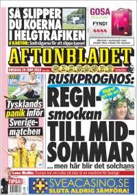 Portada de Aftonbladet (Sweden)