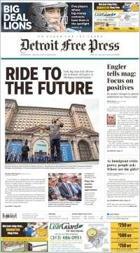 Portada de Detroit Free Press (États-Unis)