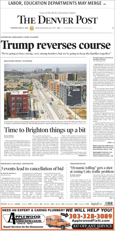 Portada de The Denver Post (États-Unis)