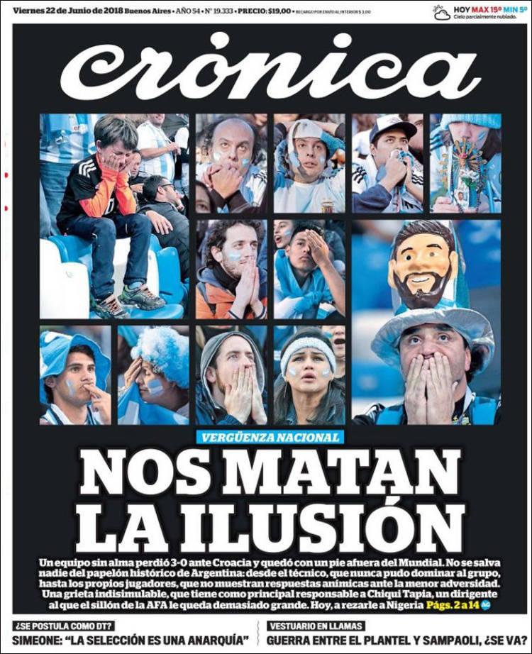 Portada de Crónica (Argentine)