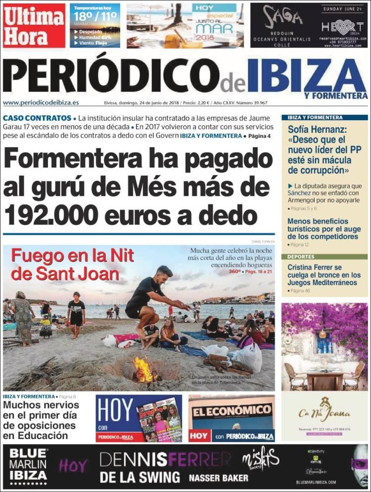Portada de Periódico de Ibiza (España)