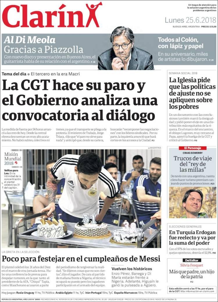 Periódico Clarín (Argentina). Periódicos de Argentina. Edición de ...
