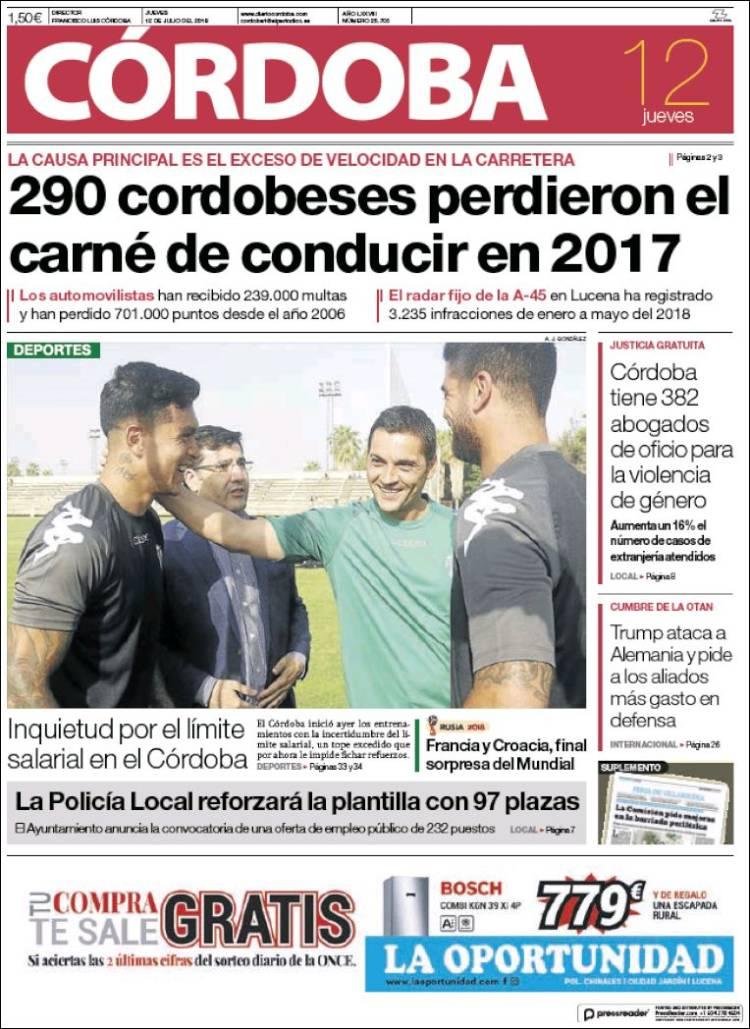 Portada de Diario de Córdoba (España)