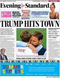 Portada de Evening Standard (Reino Unido)