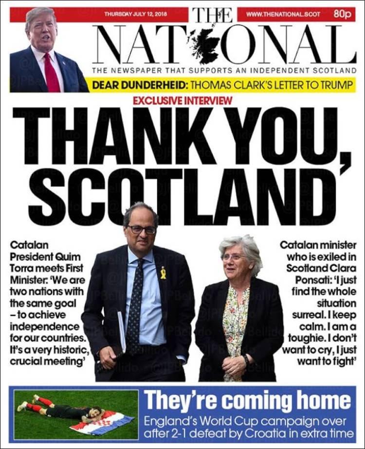Portada de The National (Reino Unido)
