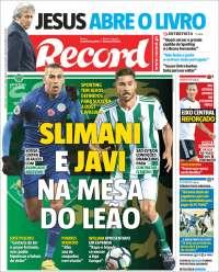 Portada de Record (Portugal)