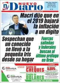 Portada de Nuevo Diario de Salta (Argentine)