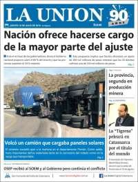 Portada de La Unión (Argentine)