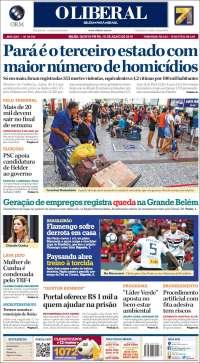 Portada de O Liberal (Brésil)