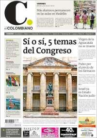 Portada de El Colombiano (Colombia)
