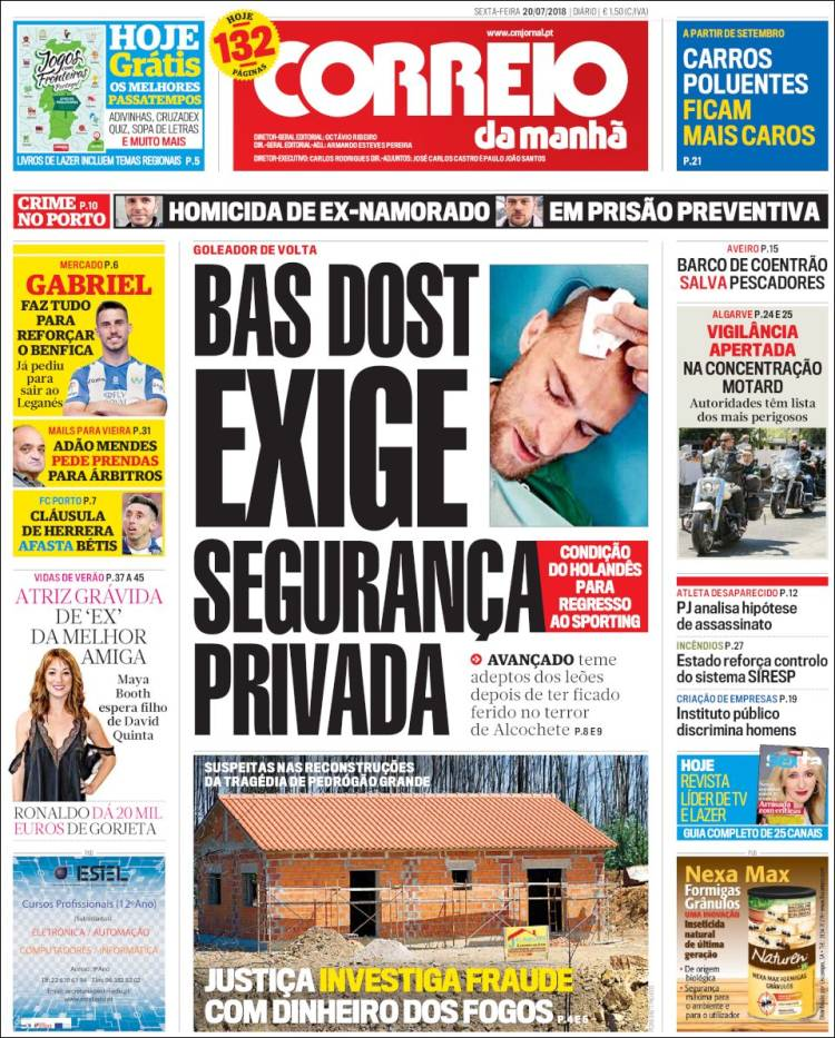 Portada de Correio da Manhã (Portugal)